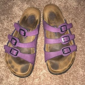 Birkenstock purple 3 strap size 37 slides